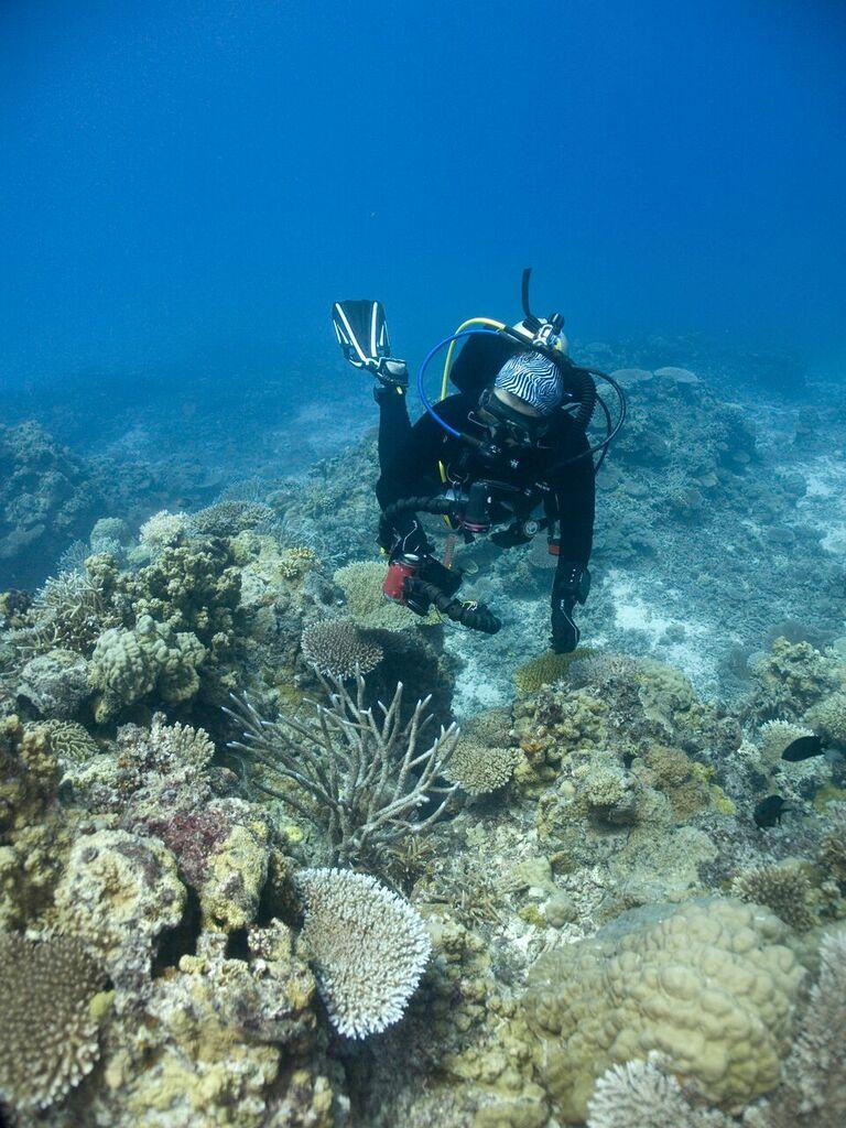 Diver with camera in Vanuatu